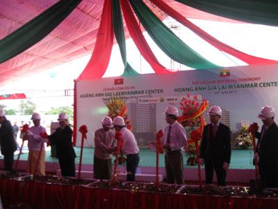Hoàng Anh Gia Lai khởi công dự án khu phức hợp 440 triệu USD tại Myanmar