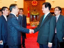 Thủ tướng Nguyễn Tấn Dũng tiếp Bí thư Khu ủy Quảng Tây, Trung Quốc