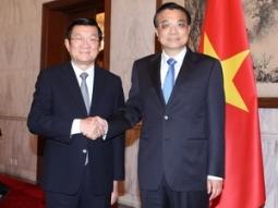 Chủ tịch nước Trương Tấn Sang hội kiến Thủ tướng Trung Quốc
