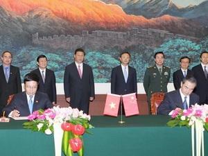 Việt Nam, Trung Quốc ký kết 10 văn kiện hợp tác