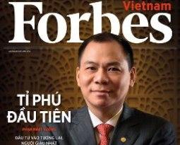Tỷ phú Phạm Nhật Vượng lên bìa tạp chí Forbes Vietnam số đầu tiên