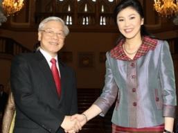 Việt Nam-Thái Lan nhất trí lập quan hệ đối tác chiến lược