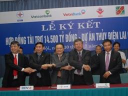 Vietcombank làm ngân hàng đầu mối thu xếp vốn dự án Thủy điện Lai Châu