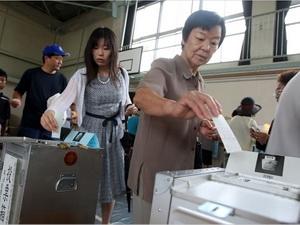 Cử tri Nhật Bản đi bỏ phiếu bầu cử Thượng viện