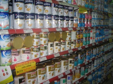 Phần lớn sữa bột được nhập khẩu từ New Zealand, Mỹ, Hà Lan