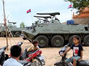 Campuchia triển khai quân ở thủ đô phòng bạo động