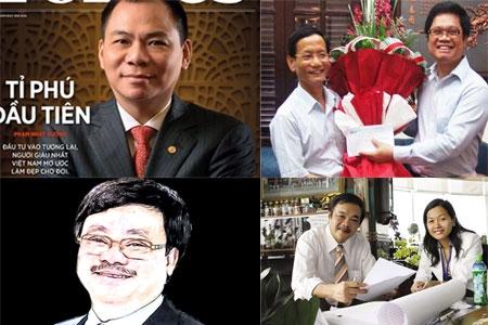 Những người có tên trong danh sách 195 người Việt siêu giàu