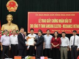 Samsung nhận giấy chứng nhận đầu tư dự án 1,2 tỷ USD tại Thái Nguyên