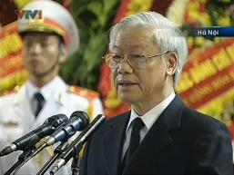 Toàn văn Lời điếu truy điệu Đại tướng Võ Nguyên Giáp do Tổng bí thư Nguyễn Phú Trọng đọc
