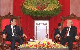 Tổng Bí thư Nguyễn Phú Trọng tiếp Thủ tướng Trung Quốc