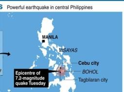 Động đất 7,2 độ richter tại Philippines, 24 người thương vong