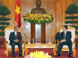 Thủ tướng Nguyễn Tấn Dũng tiếp Phó Thủ tướng Malaysia