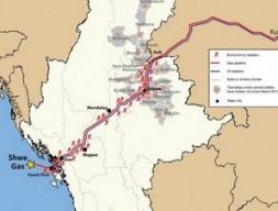 Đường ống khí đốt Trung Quốc-Myanmar chính thức vận hành