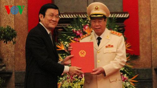 Phong hàm Thượng tướng cho Thứ trưởng Bộ Công an Bùi Văn Nam