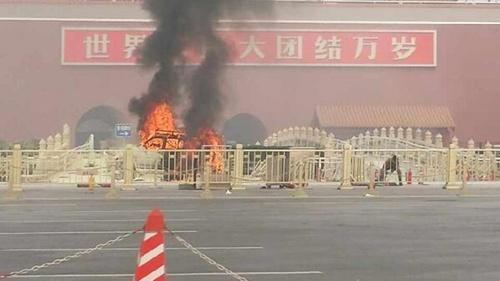 Hiện trường đáng sợ tại Thiên An Môn sau vụ đâm xe