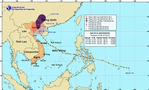 Tâm bão trên khu vực miền Nam tỉnh Quảng Tây, Trung Quốc