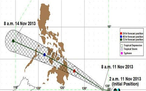 Philippines báo động bão mới có hướng di chuyển giống Haiyan