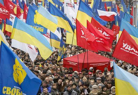 Biểu tình lớn ở Ukraina chống chính phủ ngừng chuẩn bị gia nhập EU