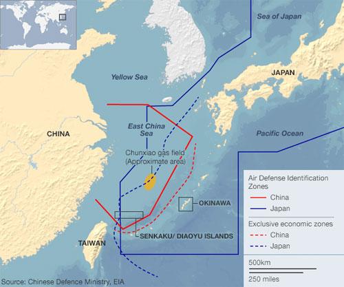 Máy bay quân sự Nhật bay vào vùng ADIZ Hoa Đông