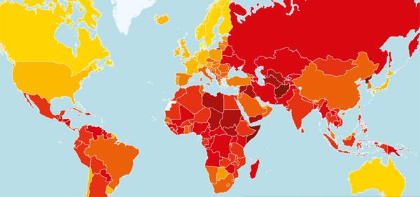 Việt Nam đứng thứ 116, tăng 7 hạng trong xếp hạng tham nhũng toàn cầu