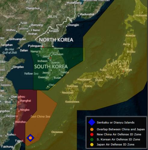 Trung Quốc thử thách quan hệ với Hàn Quốc bằng ADIZ