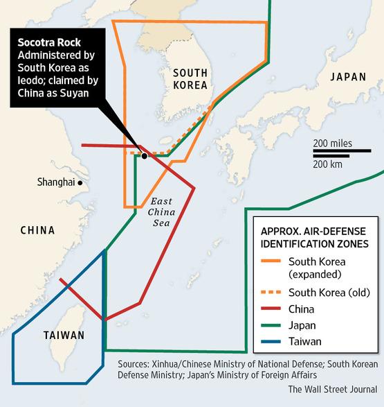 Hàn Quốc mở rộng ADIZ không làm căng tình hình