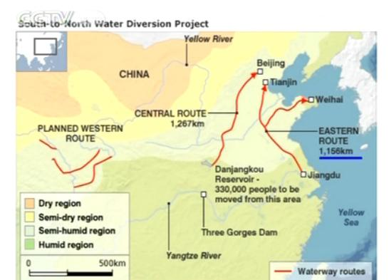Dự án chuyển nước của Trung Quốc bắt đầu hoạt động