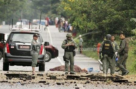 Thái Lan: Nổ bom khiến 4 binh sỹ thiệt mạng