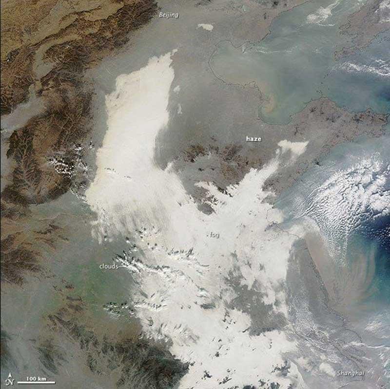 Ô nhiễm ở Trung Quốc nhìn từ không gian