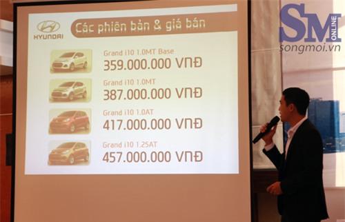 Hyundai Grand i10 có 4 phiên bản, giá từ 359 triệu đồng
