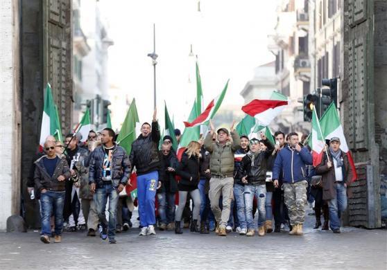 Làn sóng biểu tình châu Âu: Roma, Ý