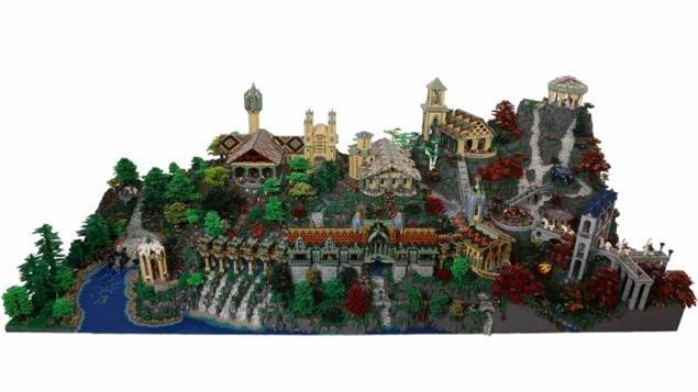 Chiêm ngưỡng xứ sở tuyệt đẹp của người Hobbit bằng lego