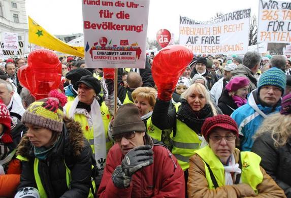 Làn sóng biểu tình châu Âu: Vienna, Áo