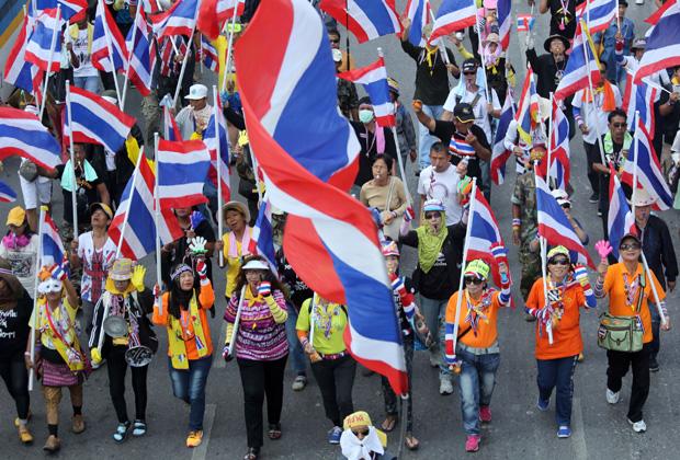 Người biểu tình Thái tập hợp trước tòa đại sứ Mỹ