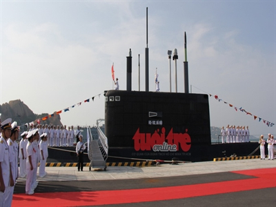 Hải quân tiếp nhận Tàu ngầm HQ-182 Hà Nội