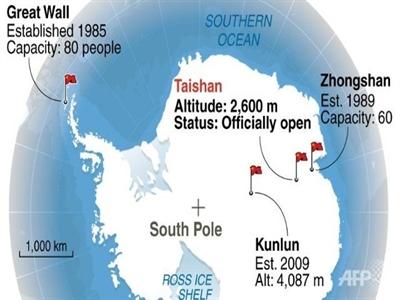 Trung Quốc ở Nam Cực: Trạm nghiên cứu Thái Sơn đã mở cửa