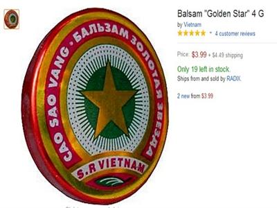 'Cao Sao Vàng 2.000 đồng' cháy hàng trên eBay, Amazon