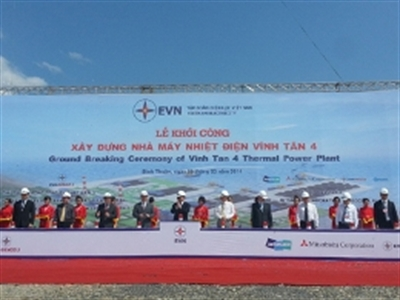 Chính thức khởi công Nhà máy Nhiệt điện Vĩnh Tân 4