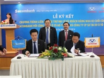 Sacombank ký hợp đồng liên kết tài trợ vốn cho các đại lý ô tô