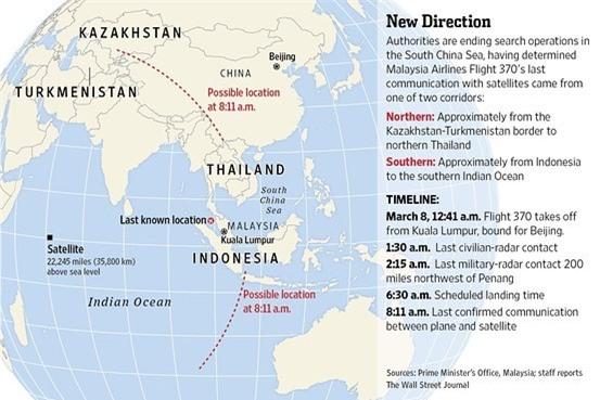 Máy bay MH370 đã hạ độ cao để tránh radar phát hiện