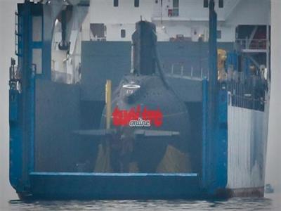 Cận cảnh tàu ngầm HQ-183 TP.HCM về đến Cam Ranh