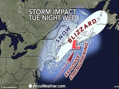 Siêu bão trên Đại Tây Dương có thể quét qua Mỹ và đổ vào Canada