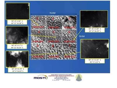 Malaysia nhận được ảnh 122 mảnh vỡ nghi của MH370