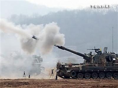 Hàng trăm phát  pháo giao tranh ở bán đảo Triều Tiên