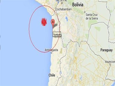 Động đất 8 độ Richter đe dọa nhấn chìm bờ biển Nam Mỹ