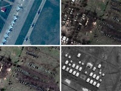 NATO công bố ảnh Nga ồ ạt triển khai quân sát biên giới Ukraine