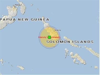 Động đất 7,3 độ richter ở Papua New Guinea