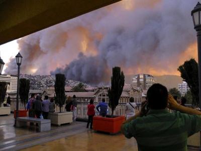 Cháy cảng Chile, 12 người chết