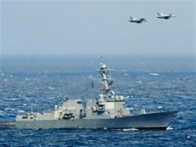 Chiến đấu cơ Nga áp sát tàu chiến Mỹ ở Biển Đen
