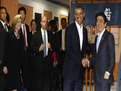 Quán sushi đón tiếp 2 nguyên thủ Obama và Abe